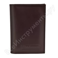 Бумажник водителя автостоп brown натуральная кожа бвл6к
