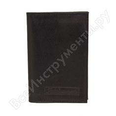 Бумажник водителя автостоп black натуральная кожа бвл2л