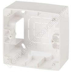 Коробка накладного монтажа эра 12610115 1 пост, эра 12, перламутр б0043169