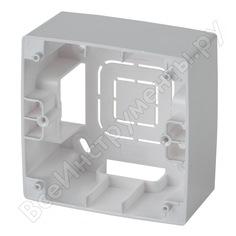 Коробка накладного монтажа эра 12610103 1 пост, эра 12, алюминий б0043162