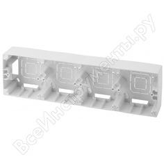 Коробка накладного монтажа эра 12-6104-01 4 поста, эра 12, белый б0043190
