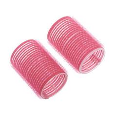 Dewal, Бигуди-липучки, розовые, 44х63 мм