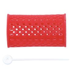 Dewal, Бигуди пластиковые, красные, 38 мм