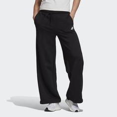 Широкие брюки из флиса adidas Athletics