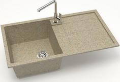 Кухонная мойка Zett Lab Модель 17 песочный матовый T017Q005