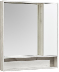 Зеркальный шкаф 80х91 см белый глянец/дуб крафт Акватон Флай 1A237702FAX10