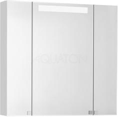 Зеркальный шкаф 80х80 см белый глянец Акватон Мадрид 1A175202MA010