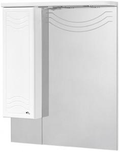 Зеркальный шкаф 88х108,4 см белый глянец L Акватон Домус 1A001002DO01L