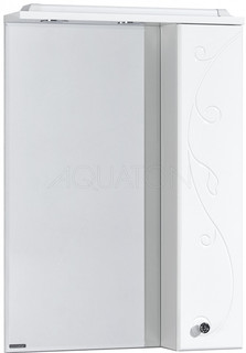 Зеркальный шкаф 65х85 см белый глянец R Акватон Домус 1A166202LL01R