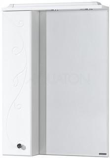 Зеркальный шкаф 65х85 см белый глянец L Акватон Домус 1A166202LL01L