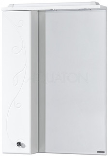 Зеркальный шкаф 60х85 см белый глянец L Акватон Домус 1A162702LL01L