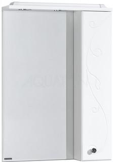 Зеркальный шкаф 60х85 см белый глянец R Акватон Домус 1A162702LL01R