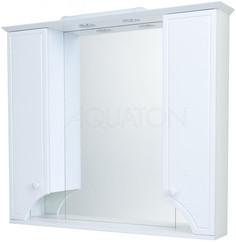 Зеркальный шкаф 95х85 см белый глянец Акватон Элен 1A218602EN010