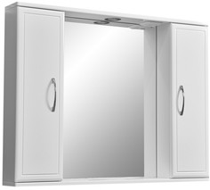 Зеркальный шкаф 90х70 см белый глянец/белый матовый Stella Polar Концепт SP-00000131