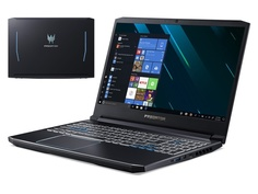 Ноутбук Acer Helios 300 PH315-52-54YU Black NH.Q53ER.01A (Intel Core i5-9300H 2.4 GHz/8192Mb/1000Gb + 256Gb SSD/nVidia GeForce GTX 1660Ti 6144Mb/Wi-Fi/Bluetooth/Cam/15.6/1920x1080/Linux)