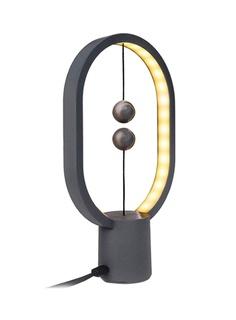 Настольная лампа Allocacoc Heng Balance Lamp Ellipse Mini Plastic Dark Grey DH0098DG/HBLEMN