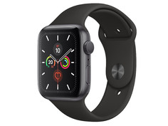 Умные часы APPLE Watch Series 5 44mm Space Grey Aluminium with Black Sport Band S/M - M/L MWVF2RU/A Выгодный набор + серт. 200Р!!!