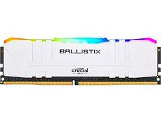 Модуль памяти Ballistix RGB White DDR4 DIMM 3000MHz PC24000 CL15 - 8Gb BL8G30C15U4WL Crucial