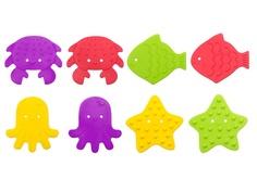 Антискользящие мини-коврики для ванны Roxy-Kids 8шт RBM-010-8