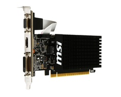 Видеокарта MSI GeForce GT 710 954Mhz PCI-E 2.0 2048Mb 1600Mhz 64 bit DVI HDMI HDCP GT 710 2GD3H LP Выгодный набор + серт. 200Р!!!