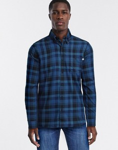 Хлопковая рубашка с длинными рукавами Timberland-Синий