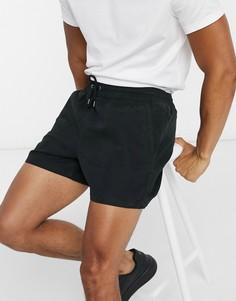 Черные шорты с затягивающимся шнурком Selected Homme-Черный
