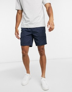 Темно-синие нейлоновые шортыс карманами Selected Homme-Темно-синий