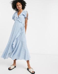 Платье макси с оборками и цветочным принтом & Other Stories-Мульти
