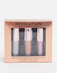 Наборминиатюрных блесков для губ Revolution - Shimmer Bomb-Розовый