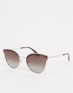 """Солнцезащитные очки """"кошачий глаз"""" Polaroid-Золотой"""
