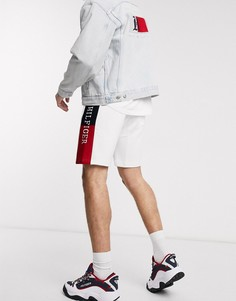 Белые спортивные шорты со вставками по бокам Tommy Hilfiger-Белый