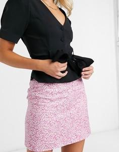 Розовая мини-юбкас цветочным принтом & Other Stories-Розовый