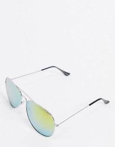 Классические солнцезащитные очки-авиаторы с зеркальными стекламиSVNX-Серебряный