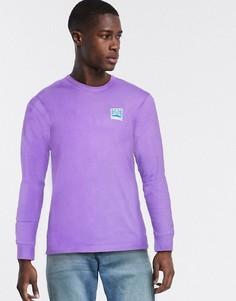 Фиолетовый лонгслив Vans-Розовый