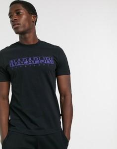 Черная футболка Napapijri-Черный