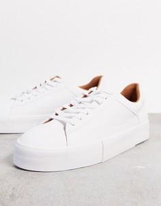 Белые кроссовки Bershka-Белый