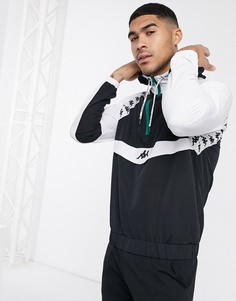 Черно-белая курткас короткой молнией Kappa-Мульти