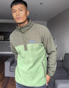 Флисовая куртка хаки с воротником на кнопках Columbia Skipping Rocks-Зеленый