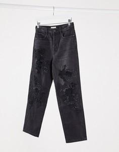 Джинсы в винтажном стилес отделкой Miss Sixty-Черный
