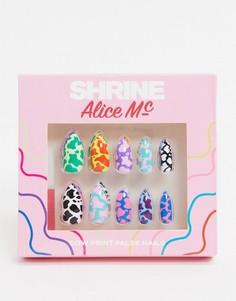 Накладные ногти с коровьим принтом The Shrine X Alice MC-Мульти
