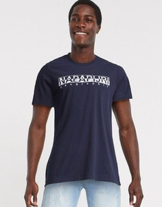 Темно-синяя футболка Napapijri-Темно-синий