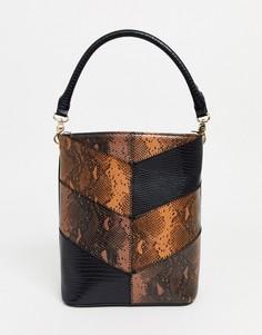 Сумка на плечо с принтом змеиной кожи Truffle Collection-Мульти