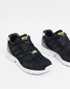 Черные кроссовки с золотистой отделкой adidas Originals ZX 8000-Черный