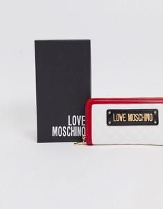 Большой стеганый кошелек с контрастной отделкой Love Moschino-Мульти