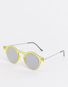 Круглые солнцезащитные очки в желтой гибкой оправеSpitfire-Желтый
