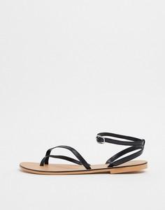 Черные сандалии Topshop-Черный