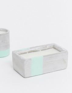 Прямоугольная свеча с ароматом морской соли и шалфея URBAN, 226 г-Бесцветный Paddywax