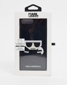 Черный футляр для iphone 8 с логотипом Karl Lagerfeld