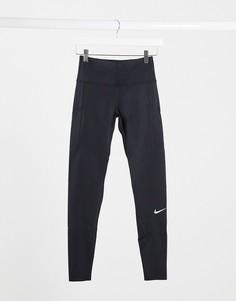 Черные леггинсы Nike Running-Черный