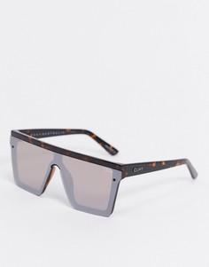 Коричневые солнцезащитные очки с зеркальными стеклами Quay Australia-Коричневый